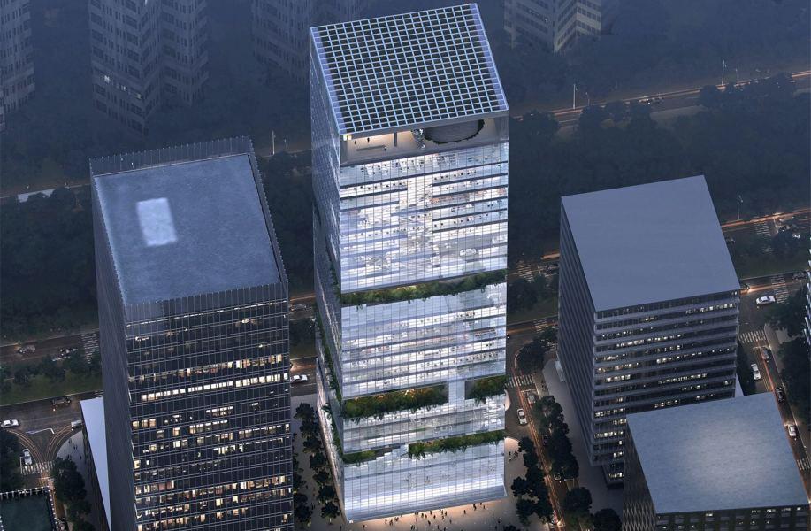 方案 | 华强方特数字动漫影视基地总部:高层中的多孔空间结构 / 第伍建筑设计