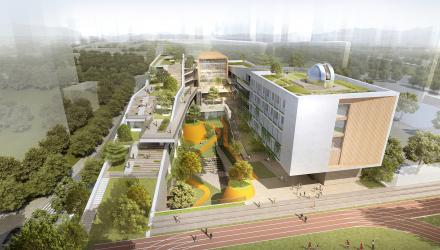 中标方案 | 深圳龙华清泉外国语学校(初中部):再造山谷 / 一境建筑设计