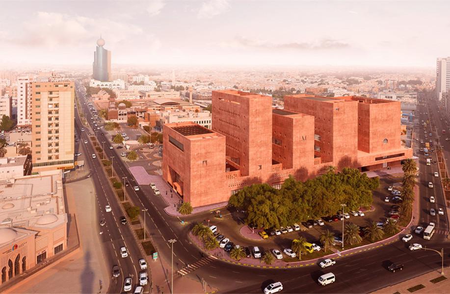 """阿贾耶事务所将于沙迦设计非洲研究所,多元文化塑造红色""""堡垒"""""""