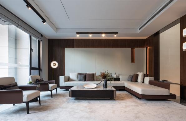 星河丹堤别墅展示样板房:解构生活 / 于强室内设计师事务所
