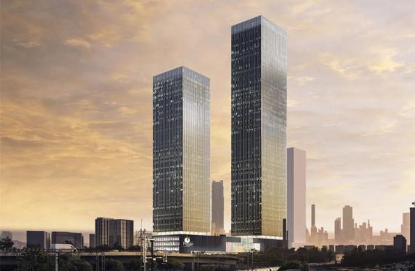 OMA印度首作开始施工,正交双子塔定义全新城市活力场所