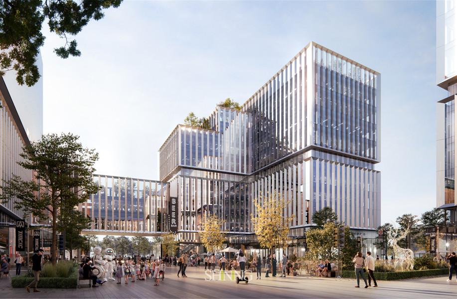 在建方案 | 中建临港区域总部基地:以榫卯为原型 / FTA建筑设计