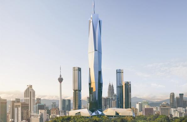 在建方案   吉隆坡Merdeka 118大楼:未来世界第二高楼 / Fender Katsalidis