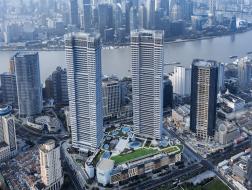 上海北外滩来福士:外显的幕墙框架 / 佩里·克拉克·佩里建筑师事务所